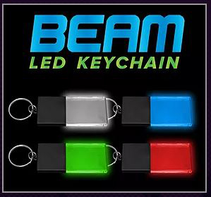 Beam Custom Engraved LED Light-up Glow Acrylic Key Chains