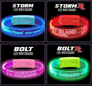 Custom LED Light-up Glow Light Band Bracelets