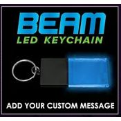 Black / Blue - Beam LED Custom Light Up Acrylic Key Chain