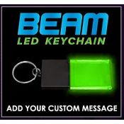 Black / Green - Beam LED Custom Light Up Acrylic Key Chains