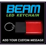 Black / Red - Beam LED Custom Acrylic Key Chain