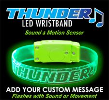 Thunder Sound Music Motion Activated Glow Light Bracelets