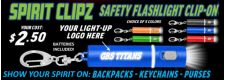 Spirit Clipz - Custom Key Chain Flashlights
