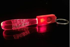 Red / Red - Beacon Custom LED Key Chain
