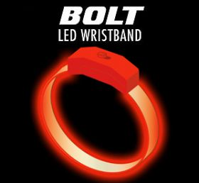 Orange - Orange Custom Light Wave Bracelet
