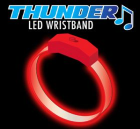 Red - Red Thunder Sound Activated Motion Bracelet