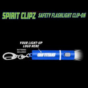 Blue Spirit Clipz Flashlight Custom Personalized Key Chain Flashlight