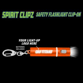 Orange Spirit Clipz Flashlight Custom Personalized Key Chain Flashlight