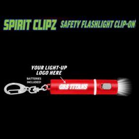 Red Spirit Clipz Flashlight Custom Personalized Key Chain Flashlight