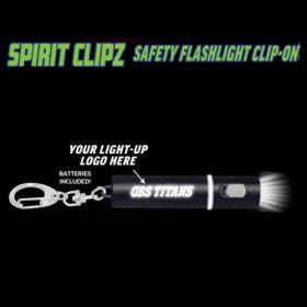 Black Spirit Clipz Flashlight Custom Personalized Key Chain Flashlight