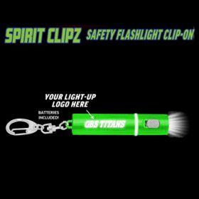 Green Spirit Clipz Flashlight Custom Personalized Key Chain Flashlight